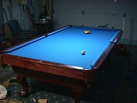 Getting The Slate Ready For Cloth And COMPLETING THE TABLE - Electric blue pool table